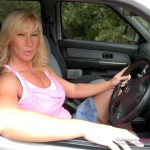 Busty MILF  Melody Charles fucking in public