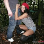 India Babe gets caught dogging in the woods