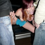 Slut in tiny blue skirt gets nailed