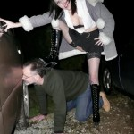 Strict bitch goes dogging