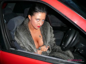 Busty dogging wife back for more